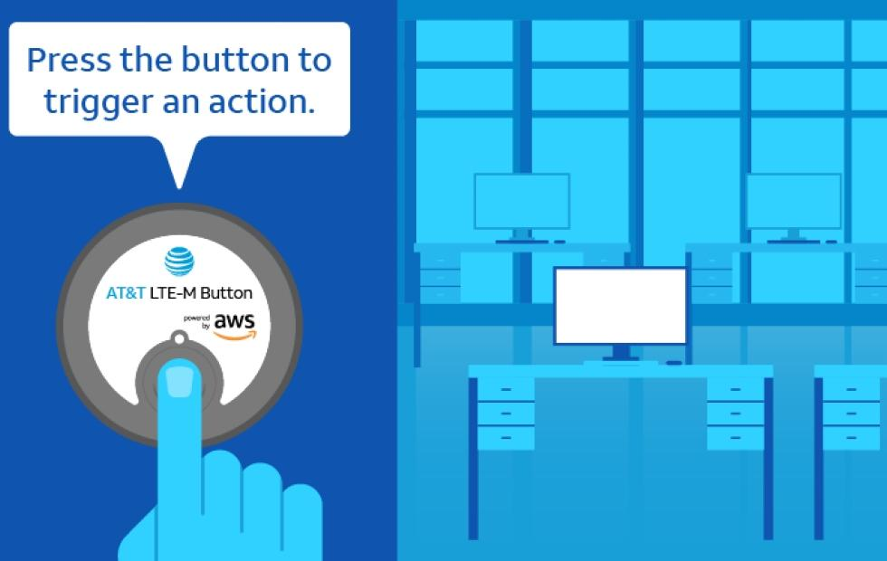 AT&T LTE-M Button: general-purpose Amazon Dash for businesses