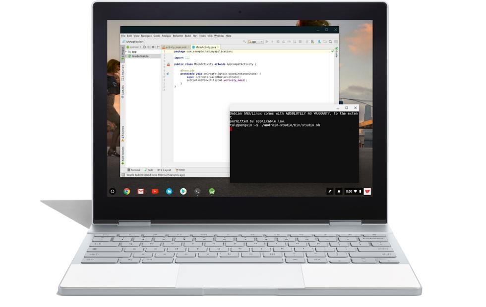 Chrome OS Linux support brings Android Studio to Chromebooks
