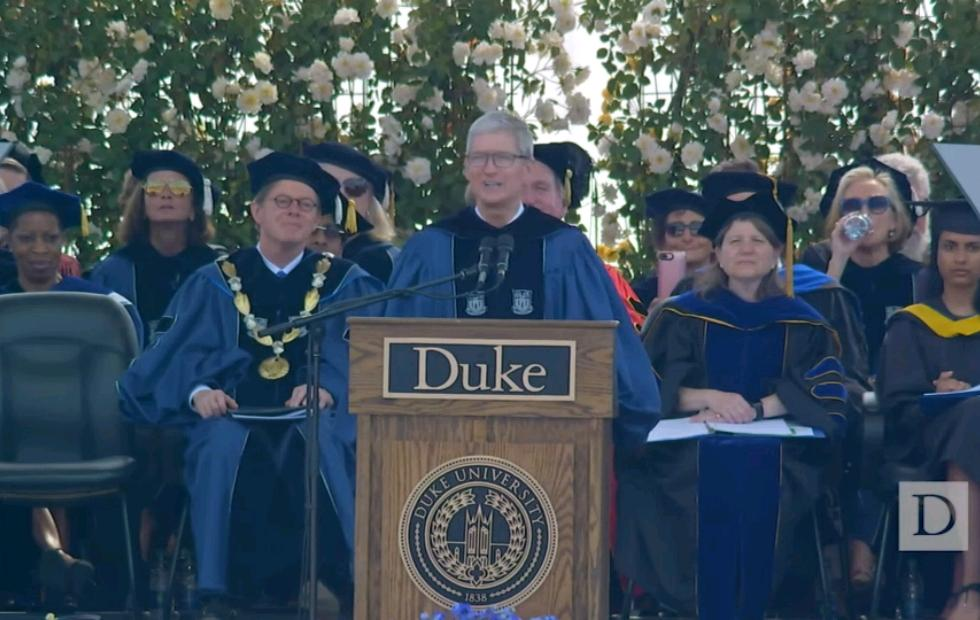 Tim Cook at Duke University commencement: think different