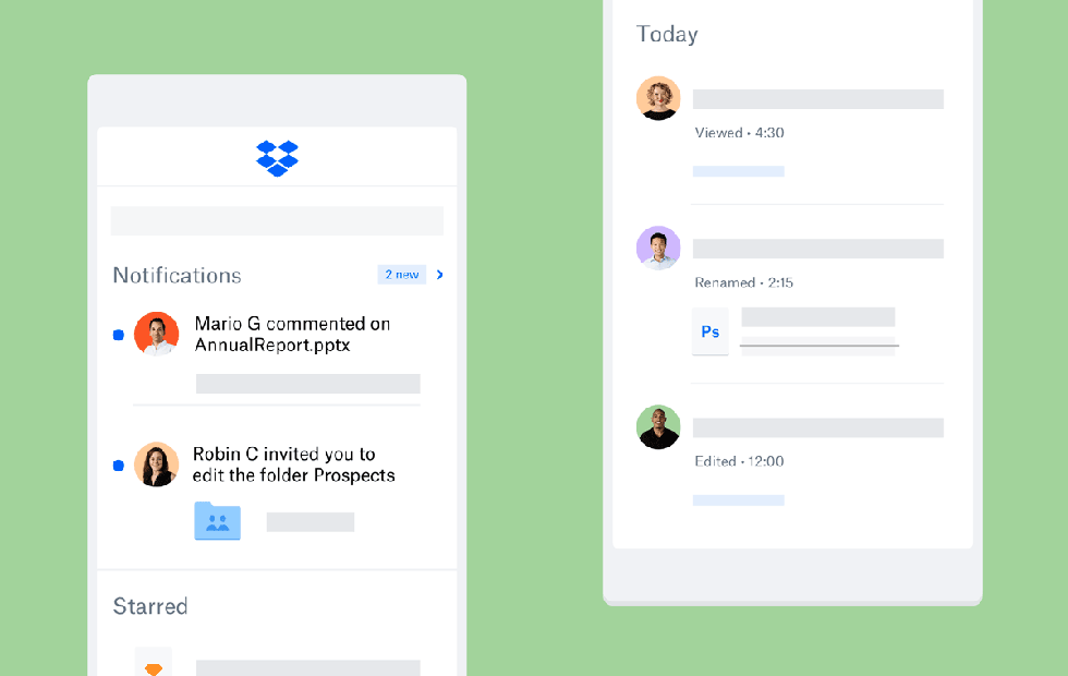 Dropbox mobile apps get better file activity tracking and sharing tools