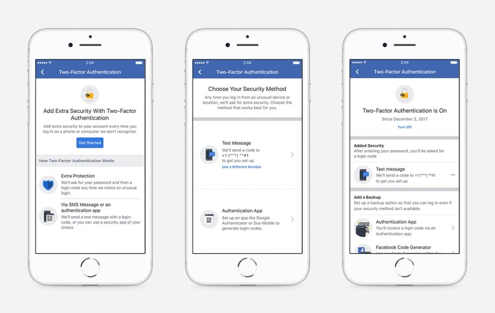 Facebook two-factor authentication is finally safer