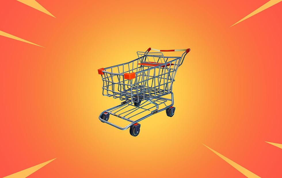 Vehicles in Fortnite? The shopping cart and jetpack tease