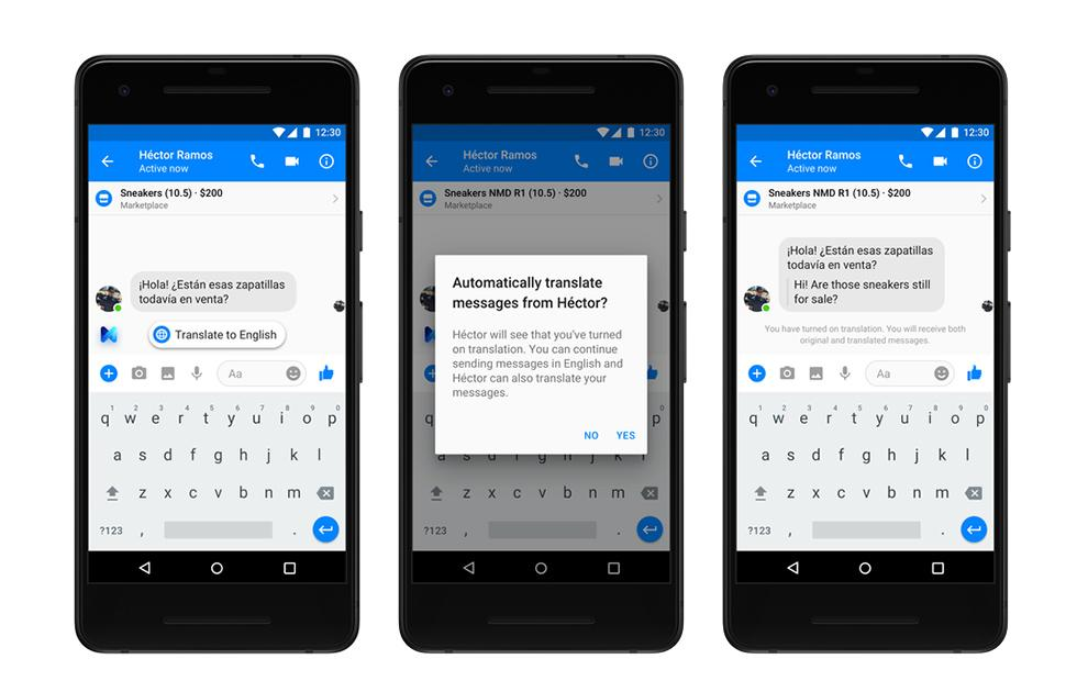 Facebook Messenger adds English and Spanish translation feature