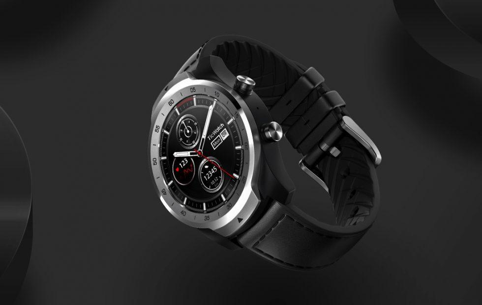 This TicWatch Pro Wear OS watch stacks two circular displays
