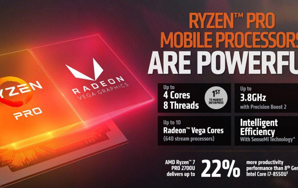 AMD Ryzen Pro now comes with built-in Radeon Vega graphics