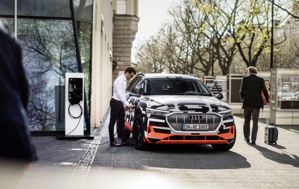 Audi's e-tron electric SUV will charge smarter with solar