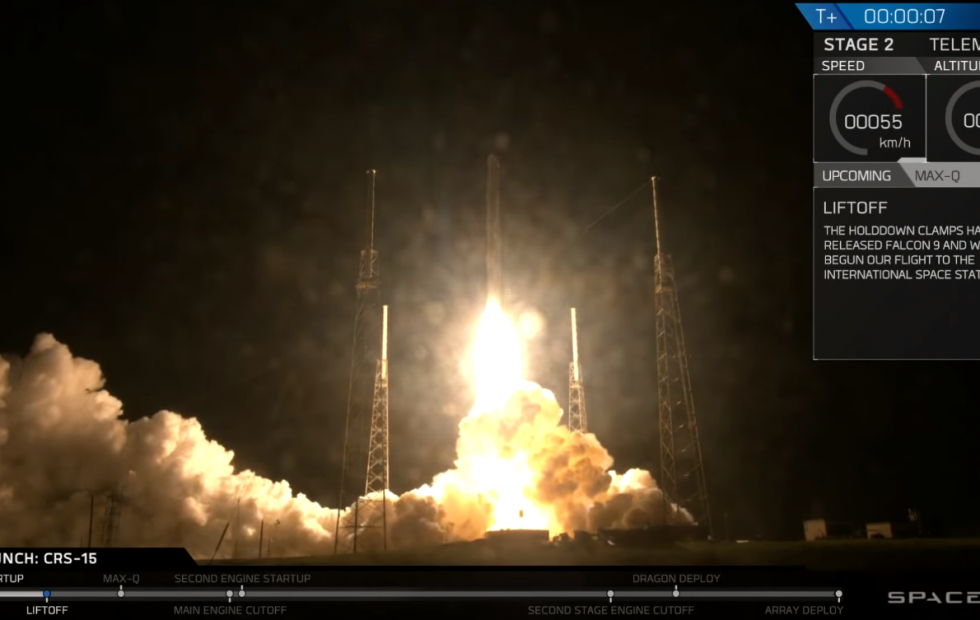 SpaceX CRS-15 launch a huge success with ISS-bound AI onboard