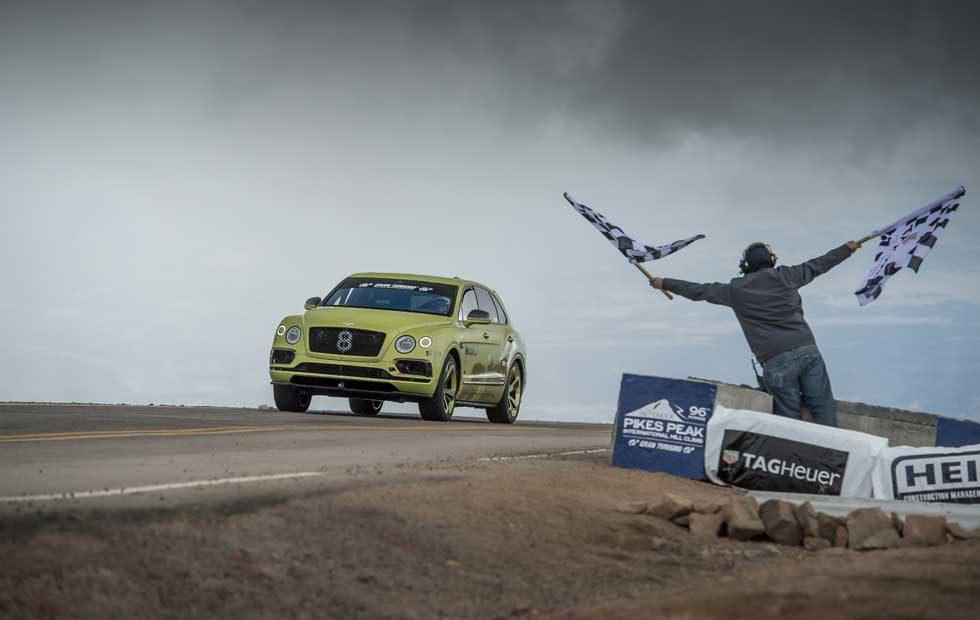 Bentley Bentayga sets class record on Pikes Peak