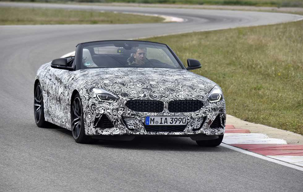 BMW Z4 undergoes driving dynamics trials in the south of France