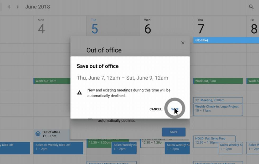 Google Calendar features remind you to take breaks
