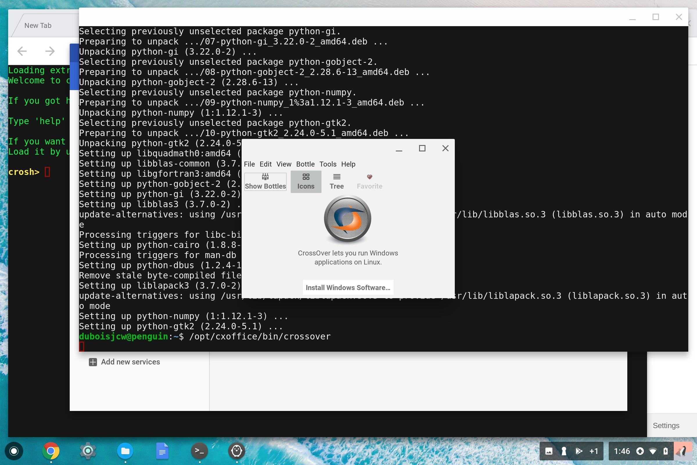 Chromebooks with Linux can run Windows apps but it's not