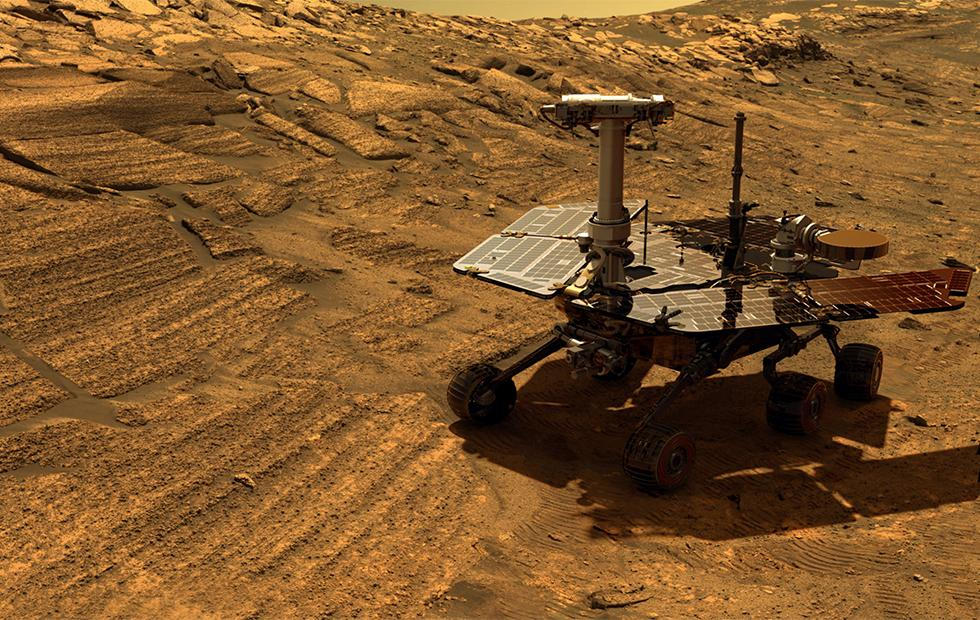 NASA's Mars rover weathers North America-sized dust storm