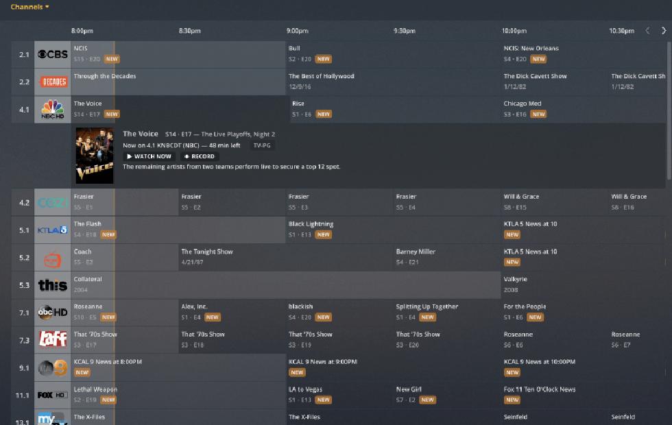 Plex live TV channel guide grid view option arrives on web