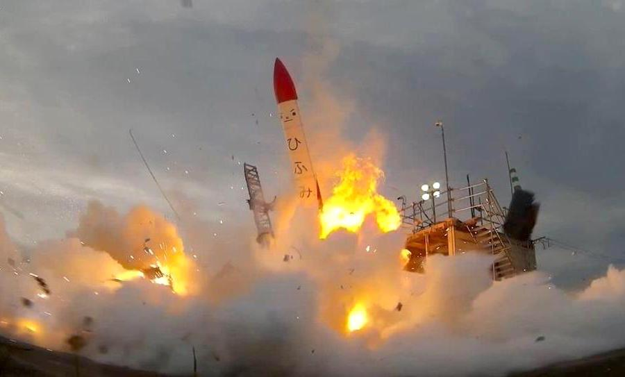 Japanese private rocket crashes in flames right after launch
