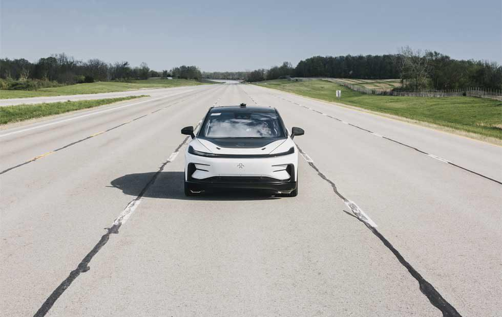 Faraday Future FF 91 Autobahn development testing underway