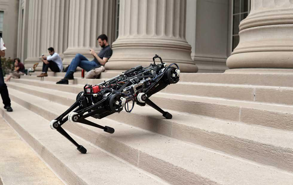 MIT's Cheetah 3 robot climbs stairs with no visual sensors or cameras to help