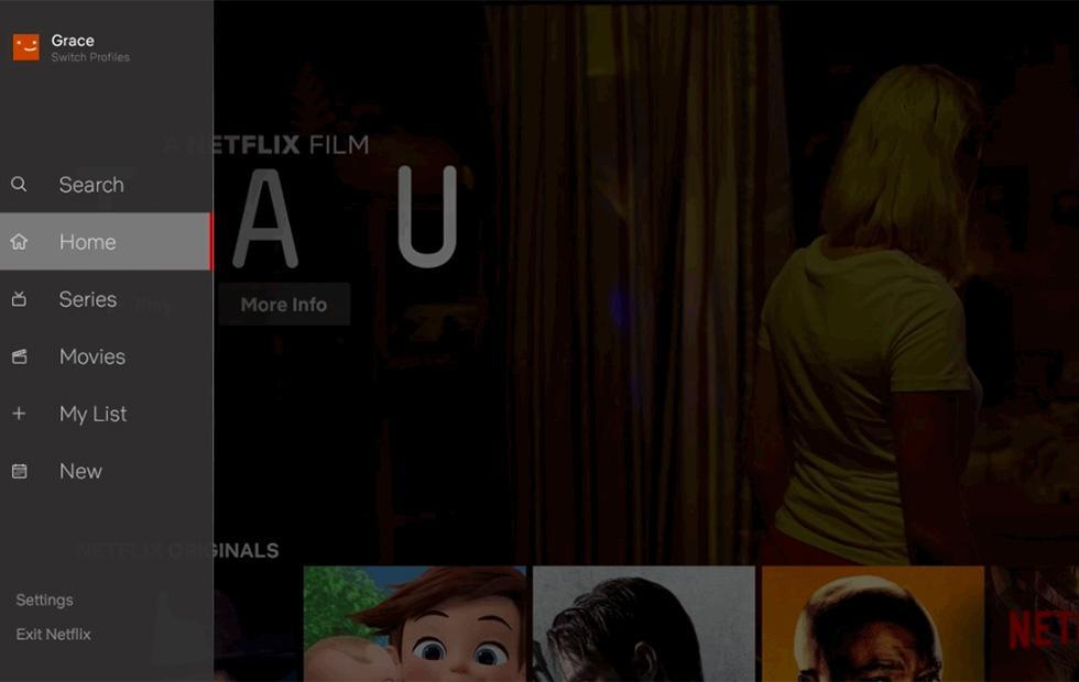 Netflix TV interface simplified with new navigation sidebar