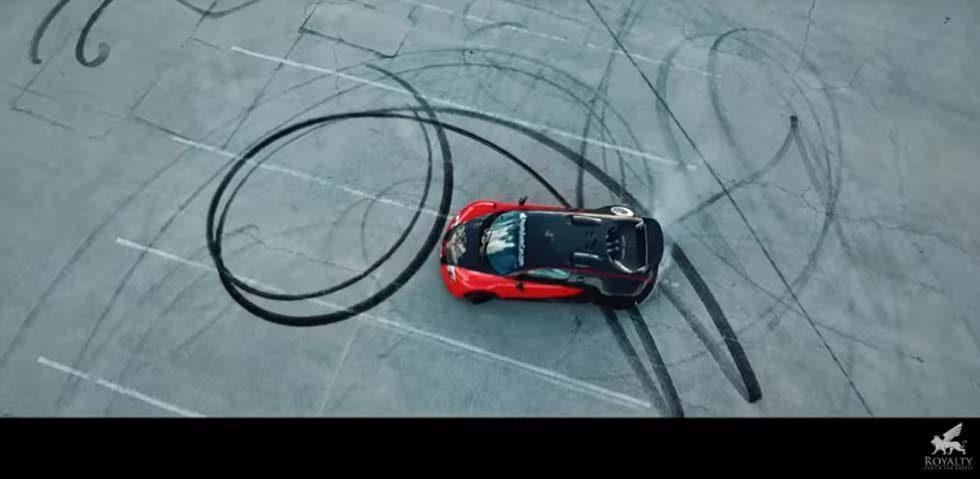 Bugatti Veyron rear-wheel drive conversion makes the donuts