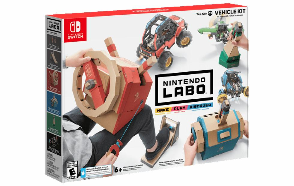 Nintendo Switch Labo Vehicle Kit turns into a car, plane, sub