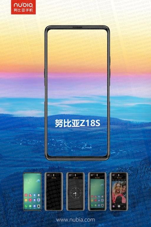 ZTE nubia Z18S trades front camera for a second screen