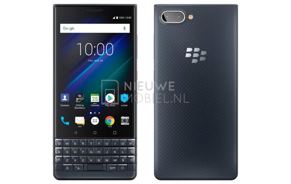 BlackBerry KEY2 LE leak shows a Somewhat Blue color option