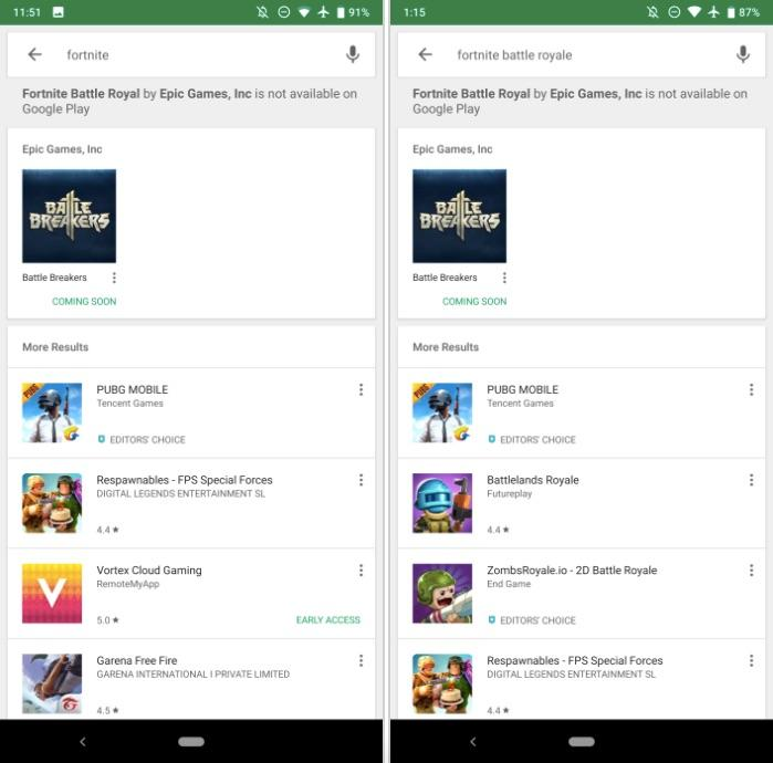 epic s decision to keep fortnite out of the play store is tied to a single motivation prevent google from taking a 30 cut of any revenue from purchases - when will fortnite be on google play store