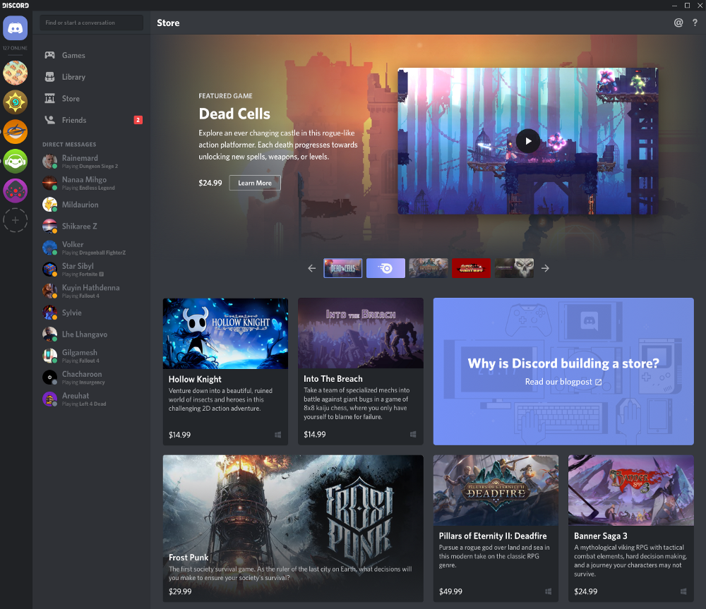 Discord game store tests kick off with freebies for Nitro