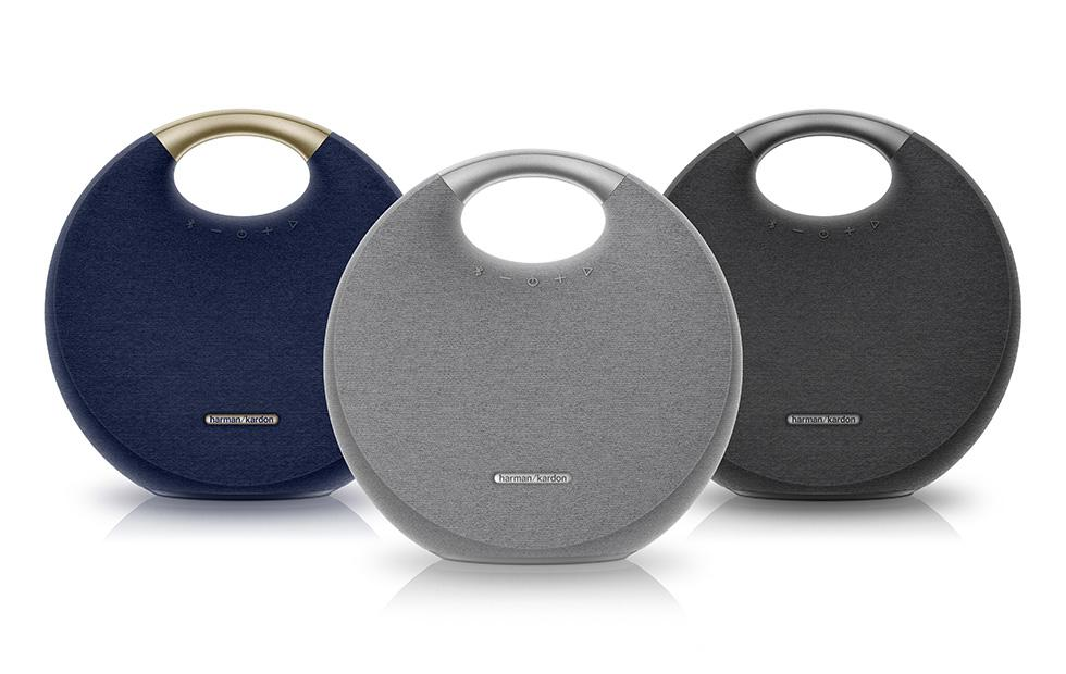 Harman Kardon Onyx Studio 5 wireless speaker packs Dual Sound support