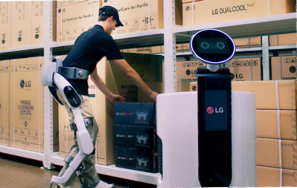"LG CLOi ""wearable"" robot is actually half an exosuit"