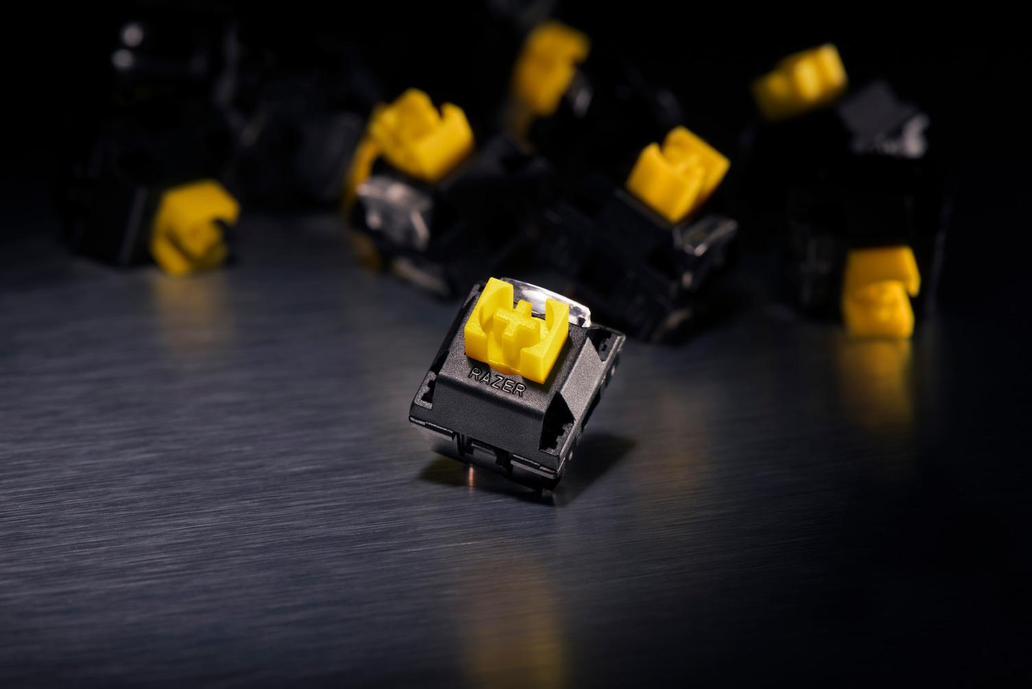 Razer BlackWidow Elite mechanical gaming keyboard detailed with on