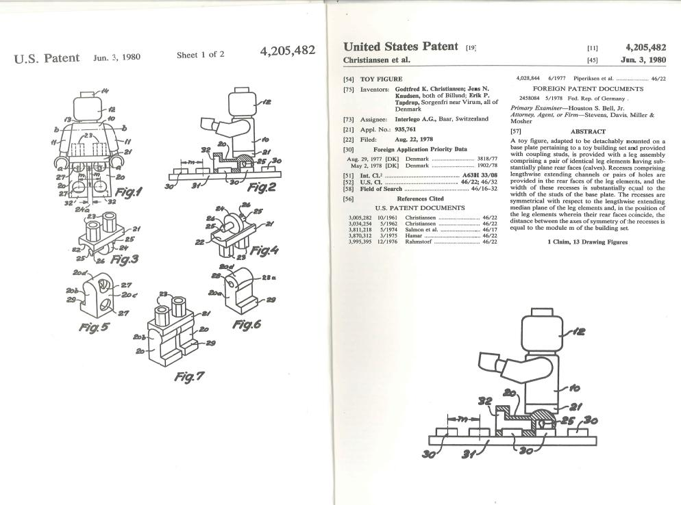 LEGO Minifigures turn 40: Here's their original patent (and some