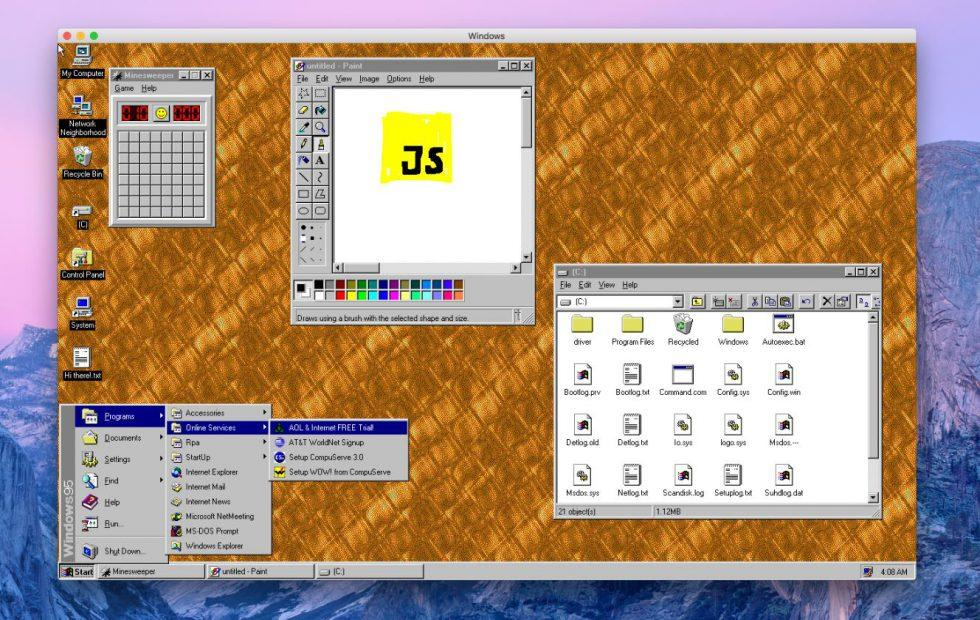 Windows 95 released as an app: Download out now