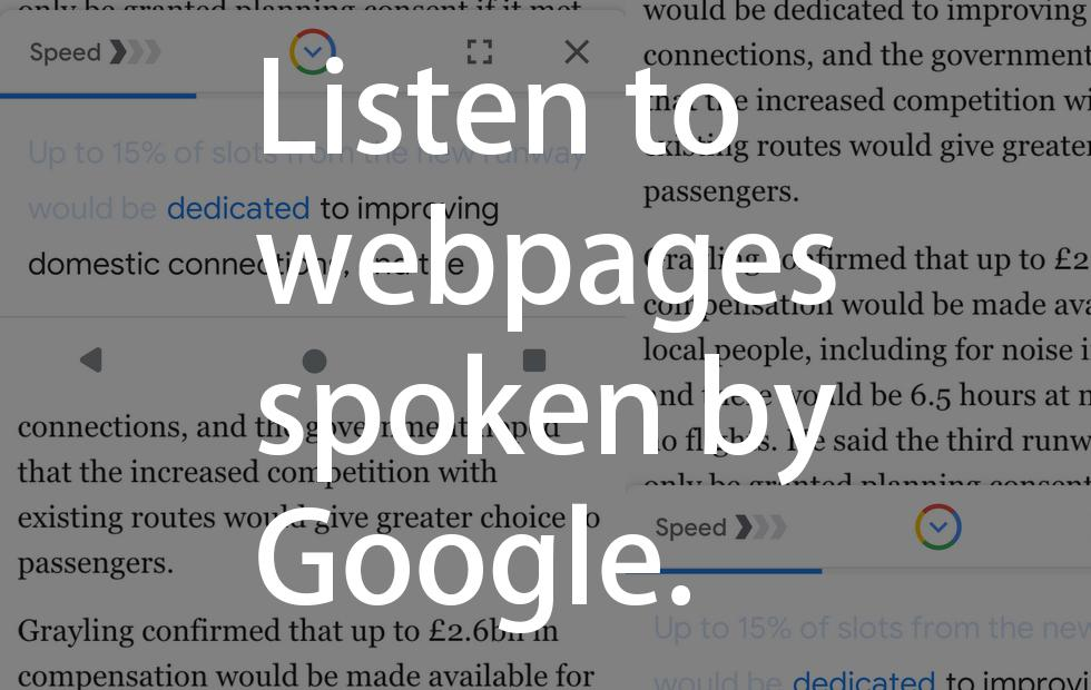 Google Go turns every webpage into a podcast
