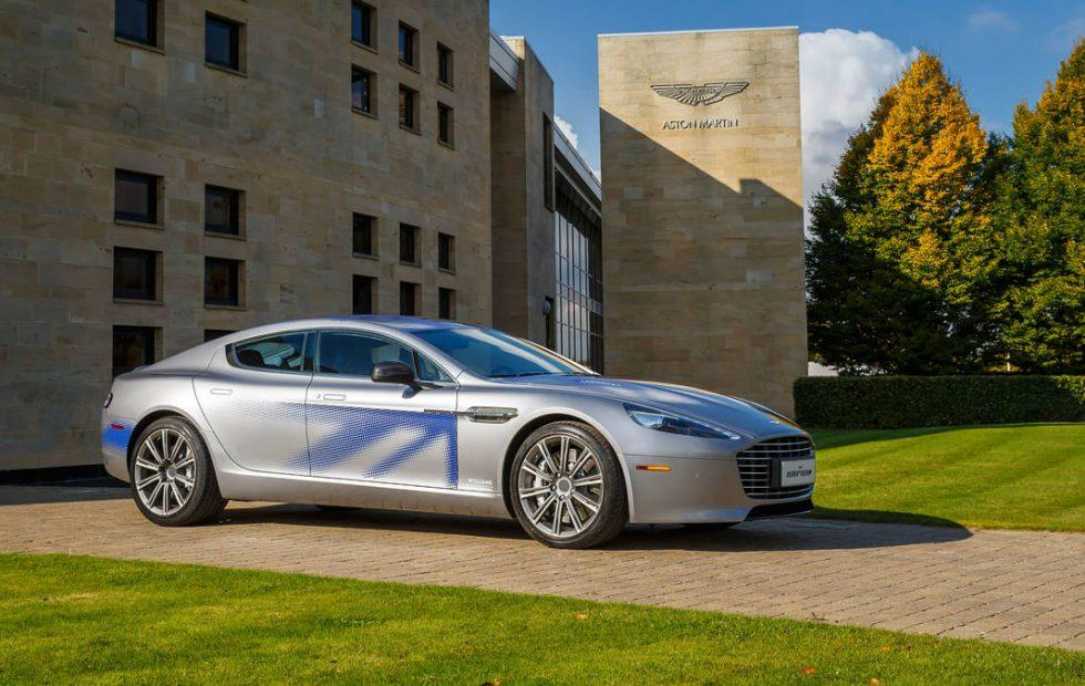 The Aston Martin RapidE EV just got into a race with Porsche's Taycan