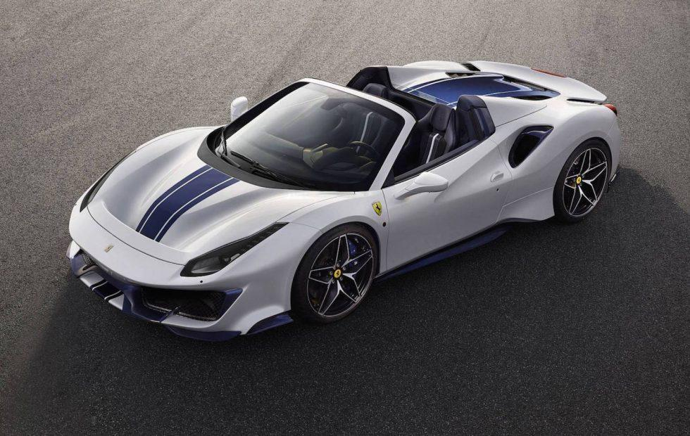 Ferrari's latest V8 convertible is the 488 Pista Spider