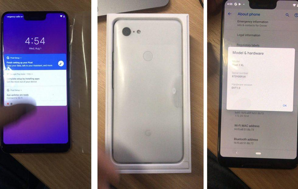 Google Pixel 3 XL just leaked in an unboxing video