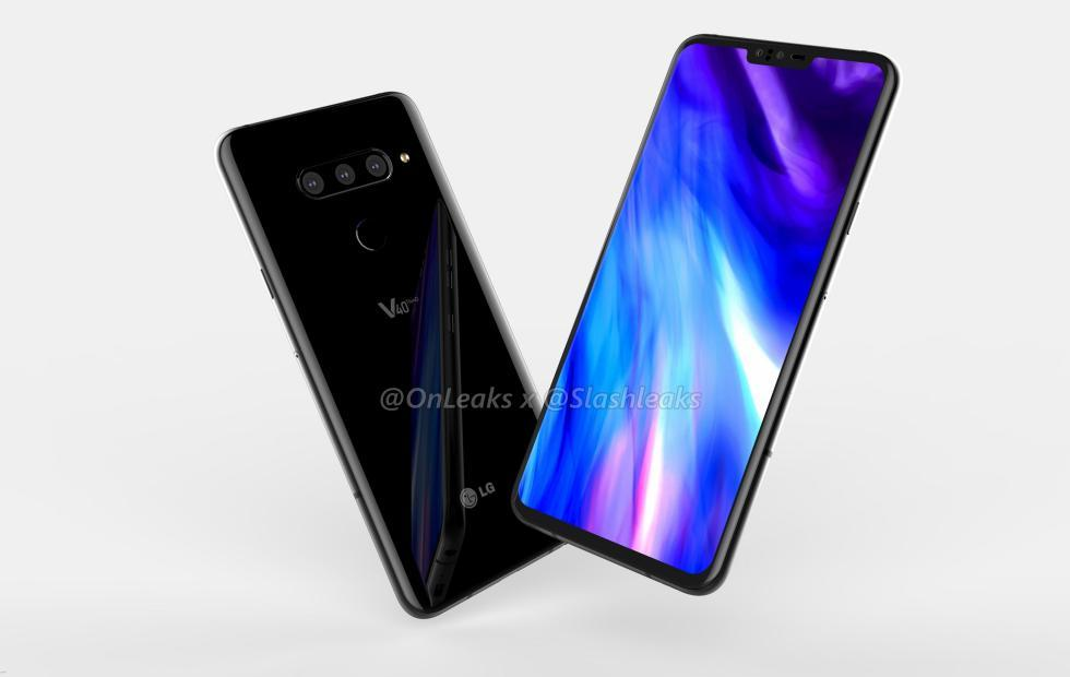 LG V40 ThinQ renders hint at LG's largest screen to date