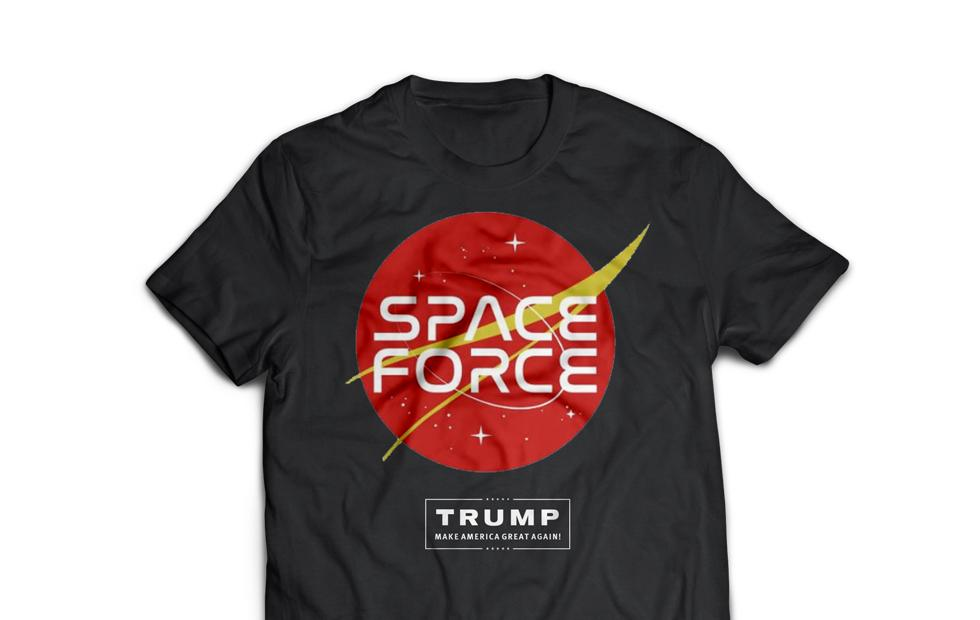Space Force logos made for Trump's profit