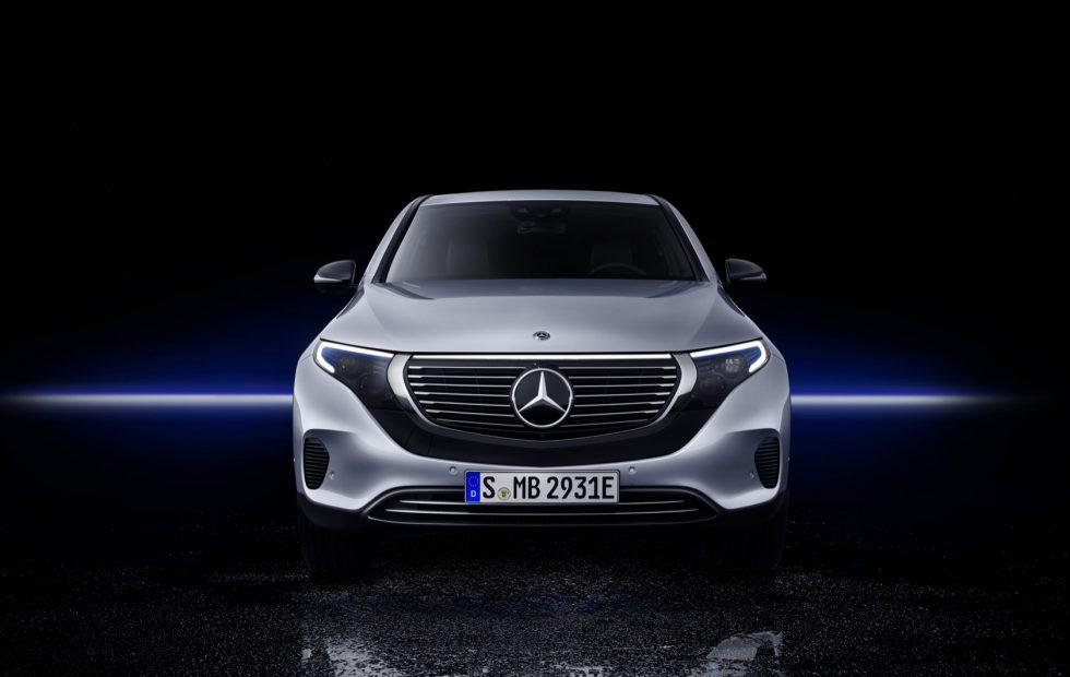 Front view of THE LATEST MERCEDES BENZ EQC AVAILABLE AT 1 CR
