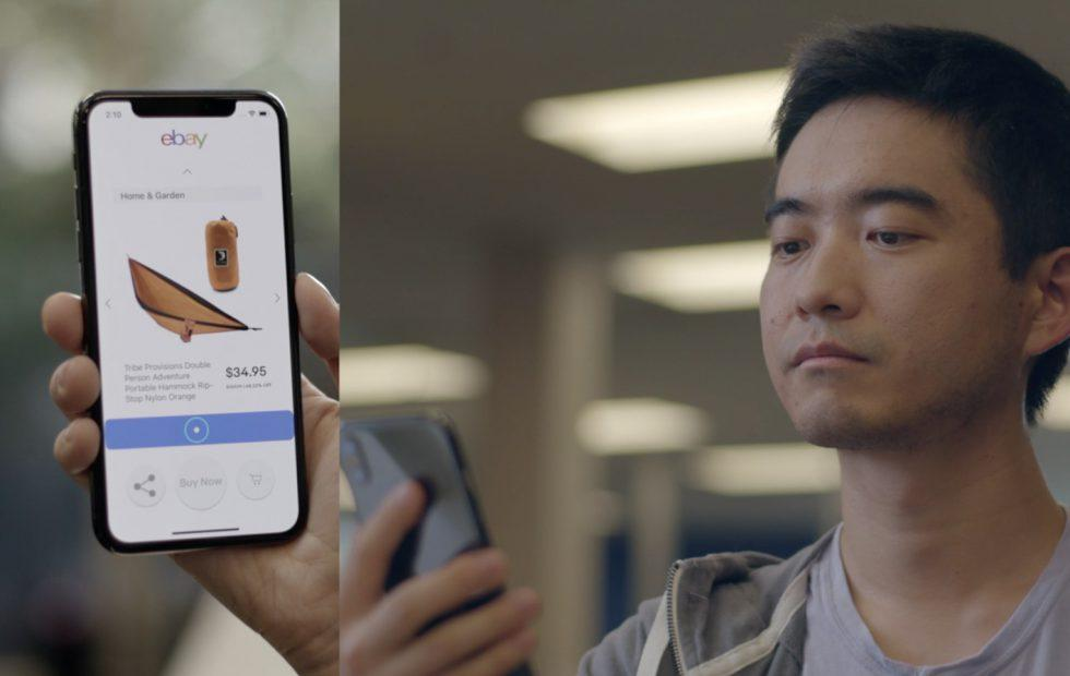 eBay tapped Apple's iPhone AR tech for hands-free shopping