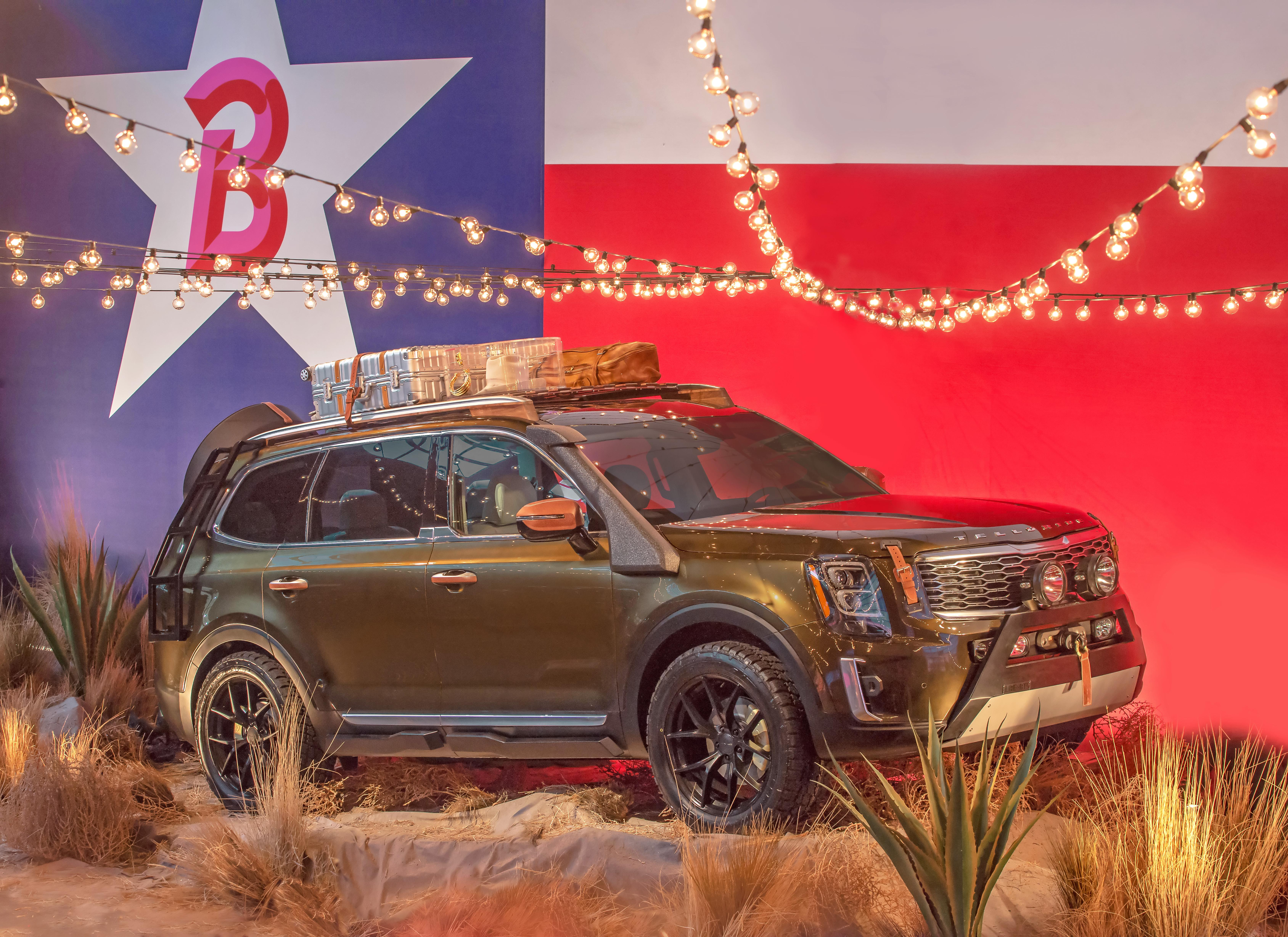 2020 kia telluride eightseat suv previewed with texas