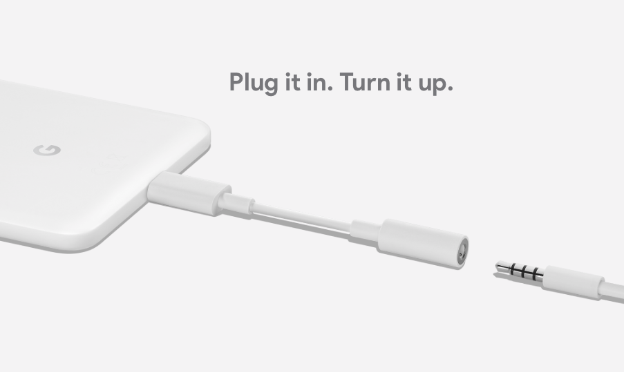 Google Pixel headphone dongle is faster, less of battery hog