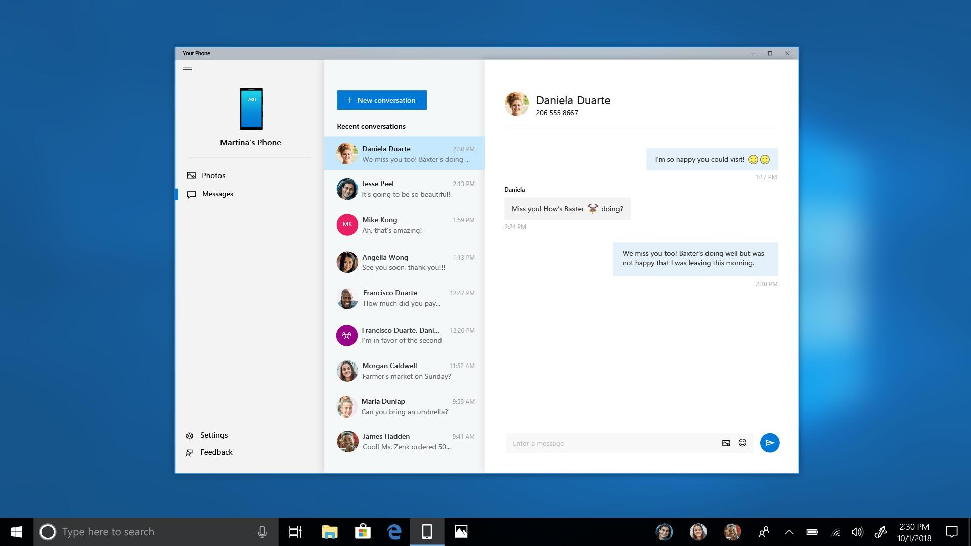 Windows 10 Your Phone now lets Insiders sync photos, SMS