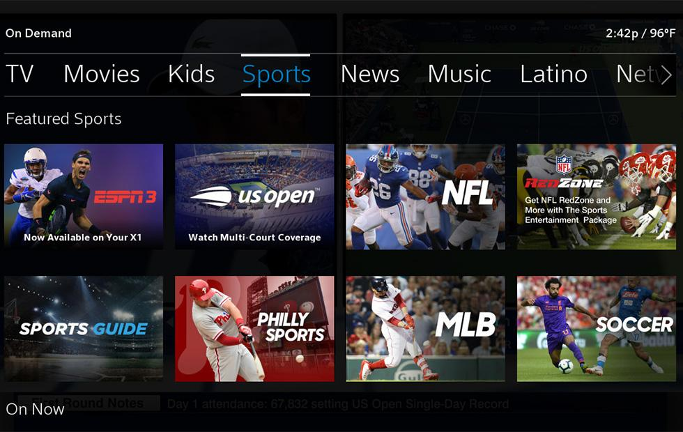 Comcast expands Xfinity X1 with three more ESPN sports networks