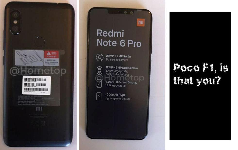 Xiaomi Redmi Note 6 Pro leaks release details: Poco F1 battle?