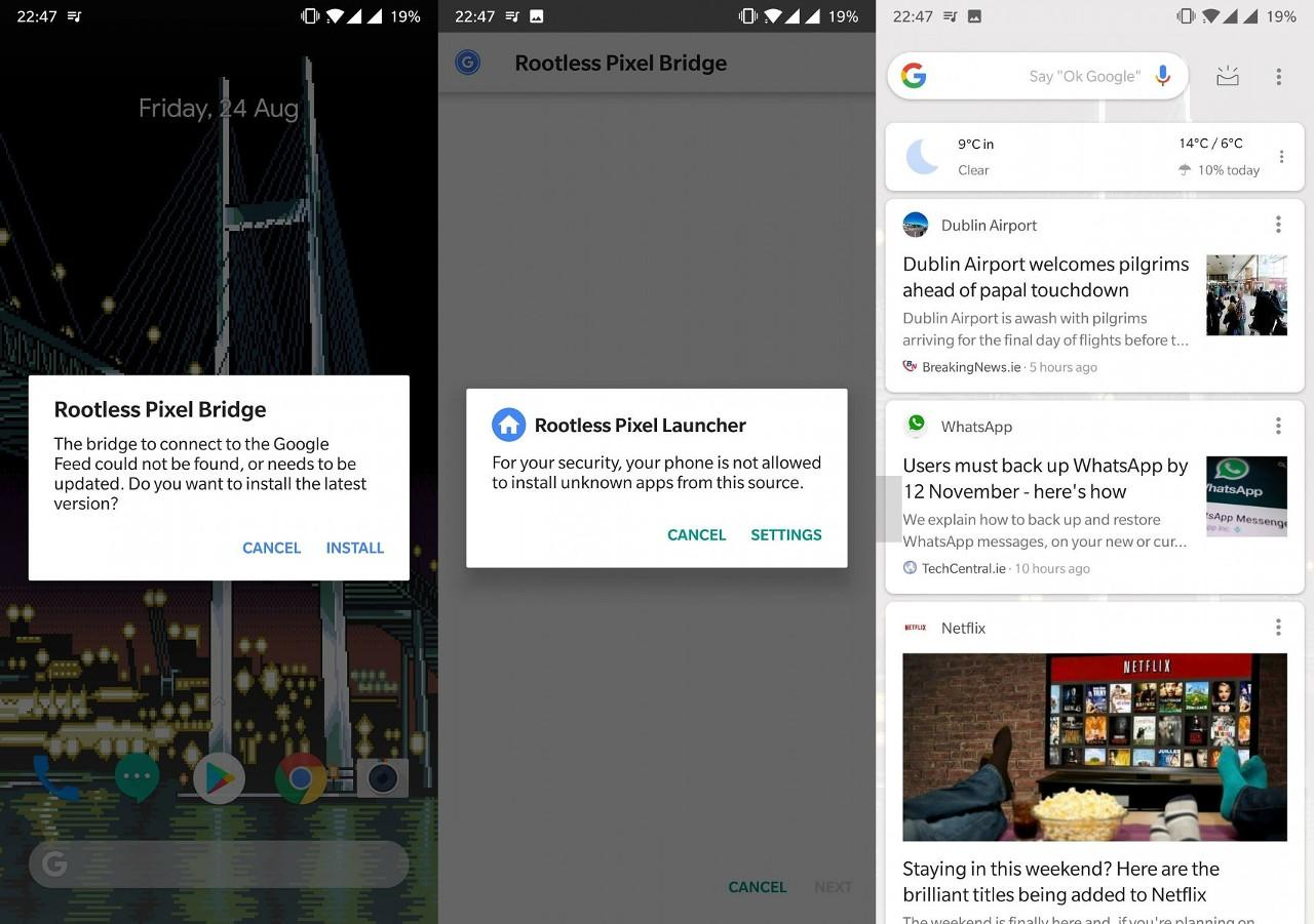 Rootless Pixel Launcher pulled from Play Store for policy