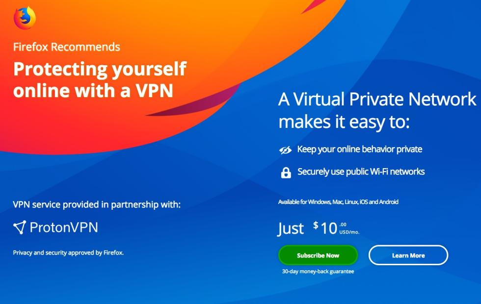 Mozilla tries to resell VPN subscriptions as revenue source
