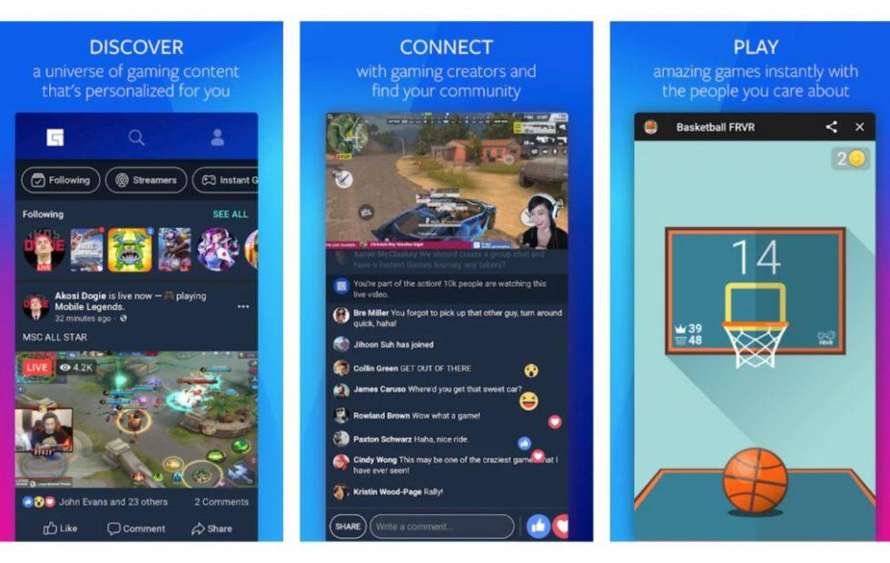 Facebook rolls out a dedicated game streaming app (that you can't