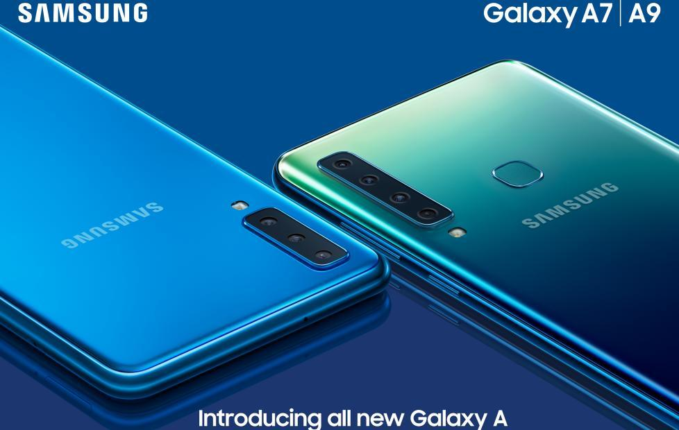 Galaxy A9 revealed with 4x cameras, Galaxy A7 with 3x