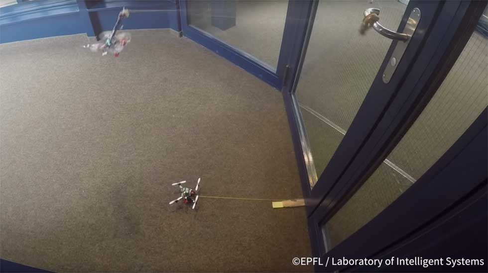 Stanford teaches small flying drones to pull heavy objects